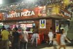 Stand Mister Pizza no Sambódromo RJ em 2013.